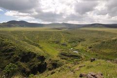De Krater van Olmoti, Tanzania Stock Afbeelding
