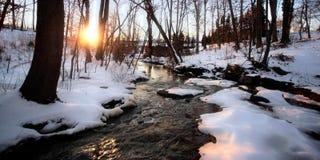 De Kreek van de winter Stock Foto's