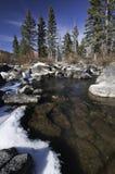 De kreek van de winter in bergen van Utah Stock Fotografie