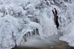 De Kreek van de winterorangeville Stock Afbeeldingen