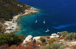 De kreekgaléria van Corsica. Stock Afbeeldingen