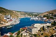 De Krim, baai Balaklava Royalty-vrije Stock Foto's