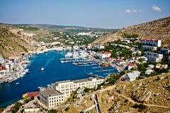 De Krim, baai Balaklava Royalty-vrije Stock Foto