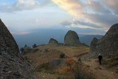 De Krim. Berg Demerdzhi Stock Afbeeldingen