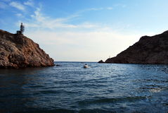 De Krim. Een baai Balaklavsky Royalty-vrije Stock Fotografie
