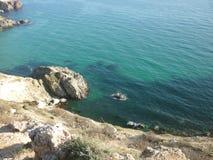 De Krim, Kaap Fiolent stock fotografie