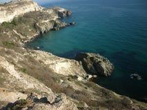 De Krim, Kaap Fiolent Bergen royalty-vrije stock afbeelding