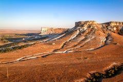 De Krim, Witte Berg, mening van een ballon stock afbeeldingen