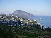 De Krimbergen, dragen Berg, Ayudag, de Zwarte Zee, Gurzuf, stock foto