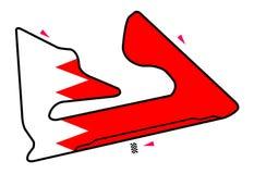 De kring van Bahrein: Formule 1 royalty-vrije illustratie