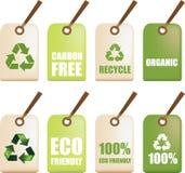 De kringloopetiketten van Eco Royalty-vrije Stock Afbeelding