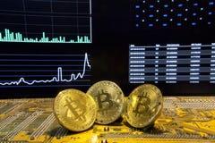 De de kringsmarkt van het Bitcointrio brengt schoon in kaart Royalty-vrije Stock Afbeelding