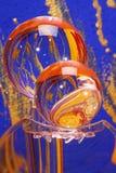 De kristallen bollen van het glas met kleur Stock Foto