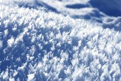 De kristallen van de sneeuw stock fotografie