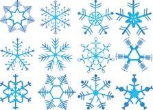 De kristallen van de sneeuw Royalty-vrije Stock Fotografie