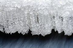 De kristallen van het ijs stock fotografie