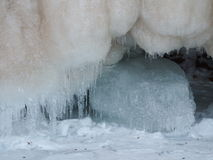De kristallen van het ijs Stock Afbeeldingen