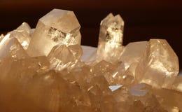 De kristallen van het kwarts Stock Foto