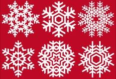 De kristallen van Kerstmis Stock Afbeeldingen