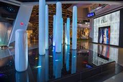 De Kristallenwandelgalerij van Las Vegas Stock Foto's