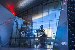 De Kristallenwandelgalerij van Las Vegas Stock Afbeeldingen