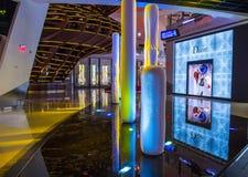 De Kristallenwandelgalerij van Las Vegas Royalty-vrije Stock Foto's