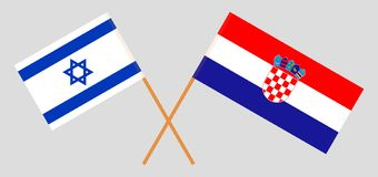 De Kroatische en Isra?lische vlaggen stock illustratie