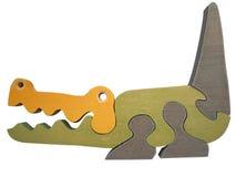 De krokodil van het stuk speelgoed Stock Foto's