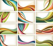 De kromme van de kleur Stock Afbeeldingen