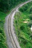 De kromme van de spoorweg royalty-vrije stock afbeelding
