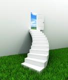 De kromme van de trap aan de hemel Stock Foto's