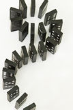 De Krommen van de domino Stock Foto's