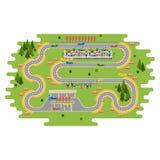 De krommeweg van het rasspoor vector illustratie