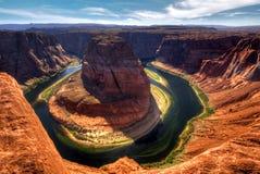 De Kromming van de paardschoen, Arizona de V.S. Stock Fotografie