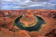 De Kromming van de paardschoen van de Rivier van Grand Canyon Arizona de V.S. Colorado Stock Foto