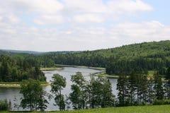 De Kromming van de rivier Stock Foto