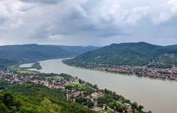 De Kromming van Donau, Hongarije Stock Afbeelding