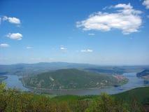De Kromming van Donau, Hongarije stock fotografie