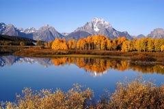 De Kromming van Oxbow dichtbij het Nationale Park van Grand Teton royalty-vrije stock foto