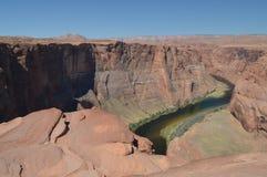 De Kromming van de paardschoen De rivier van Colorado geology royalty-vrije stock fotografie