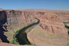 De Kromming van de paardschoen De rivier van Colorado geology stock afbeeldingen