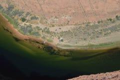 De Kromming van de paardschoen De rivier van Colorado geology royalty-vrije stock foto's