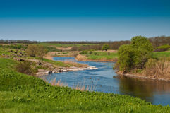 De krommingen van de rivier stock afbeelding