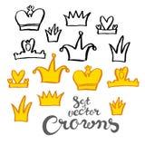 De kronen van de handtekening stock illustratie