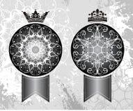 De kronen van de koning en van de Koningin Stock Afbeeldingen