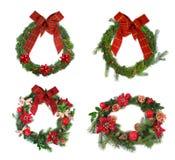 De Kronen van Kerstmis Stock Afbeeldingen