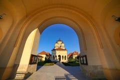De Kroningskathedraal in Alba Iulia stock afbeelding
