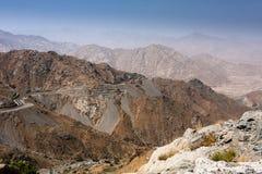 De kronkelweg van de bergweg dichtbij Taif, Saudi-Arabië stock fotografie