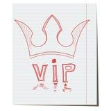 De kroon is een hand-drawn symbool van VIP klasse Stock Afbeeldingen