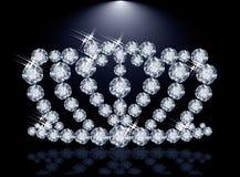 De kroon van de diamantprinses Royalty-vrije Stock Foto's
